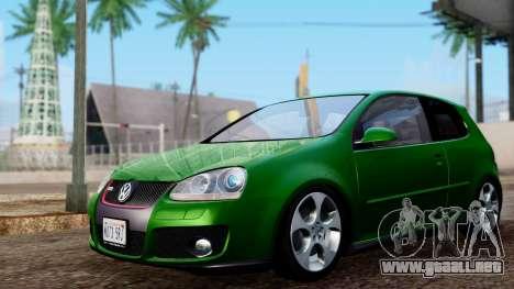 Volkswagen Golf Mk5 GTi Tunable PJ para GTA San Andreas vista posterior izquierda