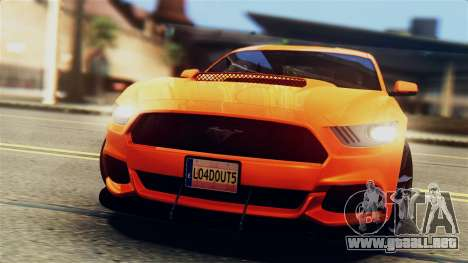 Ford Mustang GT 2015 Stock Tunable v1.0 para GTA San Andreas interior
