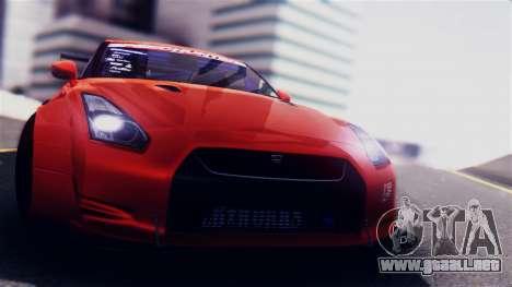 Nissan GT-R R35 LW para GTA San Andreas vista posterior izquierda