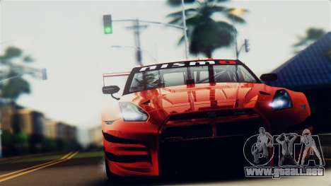 Nissan GT-R (R35) GT3 2012 PJ5 para la visión correcta GTA San Andreas