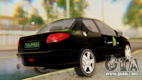 Peugeot 206 Coupe Police para GTA San Andreas left