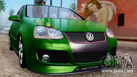 Volkswagen Golf Mk5 GTi Tunable PJ para visión interna GTA San Andreas