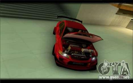 Mitsubishi Lancer Evolution IX Street Edition para GTA San Andreas vista posterior izquierda