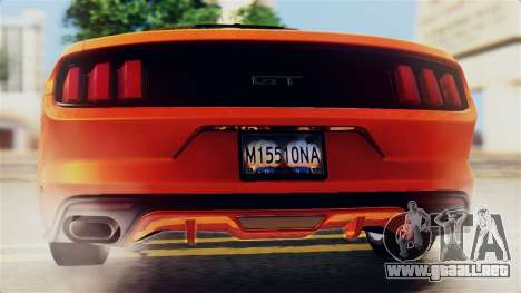 Ford Mustang GT 2015 Stock Tunable v1.0 para el motor de GTA San Andreas