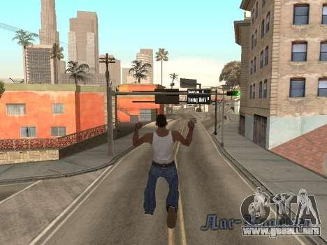 Back Flip para GTA San Andreas segunda pantalla