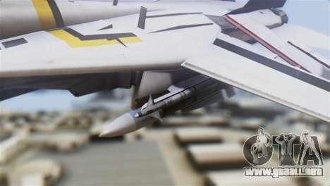 F-14D Tomcat Macross Yellow & Black para la visión correcta GTA San Andreas