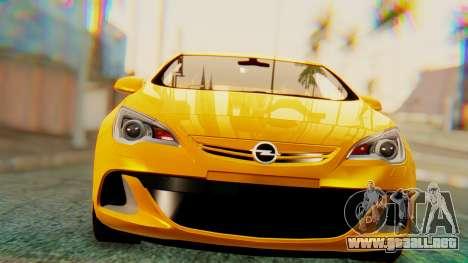 Opel Astra J OPC para GTA San Andreas left