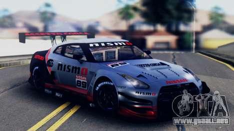Nissan GT-R (R35) GT3 2012 PJ5 para la vista superior GTA San Andreas