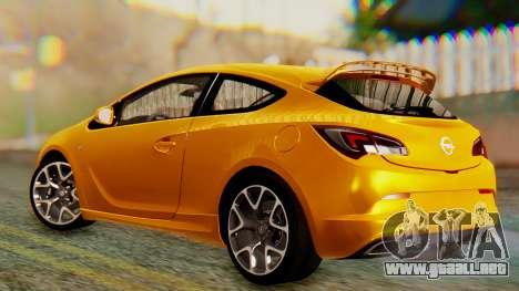 Opel Astra J OPC para GTA San Andreas vista posterior izquierda