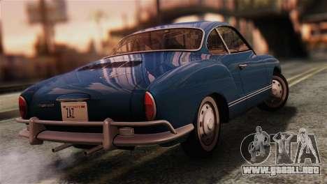 Volkswagen Karmann-Ghia Coupe (Typ 14) 1955 IVF para GTA San Andreas left