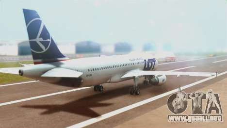 LOT Polish Airlines Airbus A320-200 (New Livery) para GTA San Andreas left