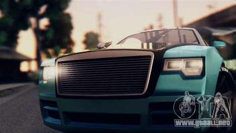 GTA 5 Enus Windsor para GTA San Andreas vista posterior izquierda