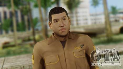 Post OP Skin from GTA 5 para GTA San Andreas tercera pantalla