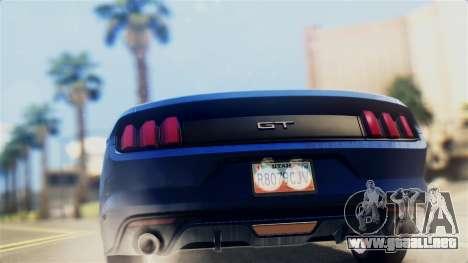 Ford Mustang GT 2015 Stock Tunable v1.0 para la visión correcta GTA San Andreas