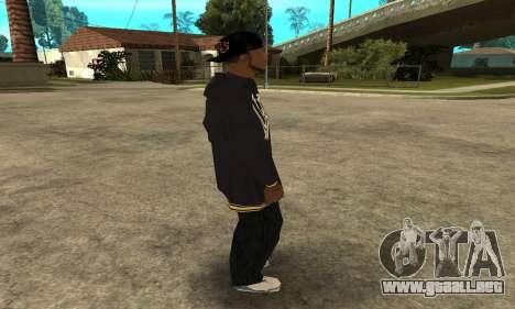 Groove Skin para GTA San Andreas sucesivamente de pantalla