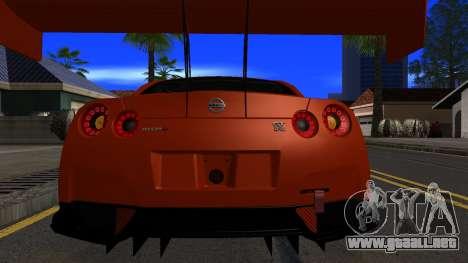 Nissan GT-R (R35) GT3 2012 PJ5 para vista lateral GTA San Andreas