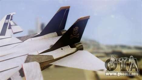 F-14D Tomcat Macross Yellow & Black para GTA San Andreas vista posterior izquierda