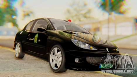 Peugeot 206 Coupe Police para GTA San Andreas