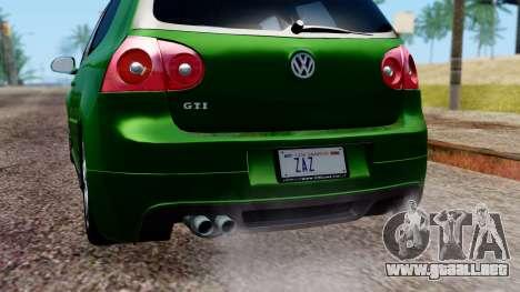 Volkswagen Golf Mk5 GTi Tunable PJ para la vista superior GTA San Andreas