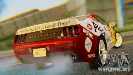GTA 5 Vapid Dominator Pisswasser SA Lights para GTA San Andreas left