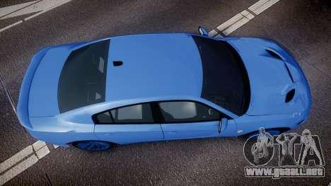 Dodge Charger SRT 2015 Hellcat para GTA 4 visión correcta