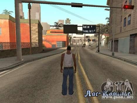 Back Flip para GTA San Andreas sucesivamente de pantalla