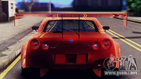 Nissan GT-R (R35) GT3 2012 PJ5 para GTA San Andreas vista hacia atrás