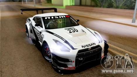 Nissan GT-R (R35) GT3 2012 PJ4 para GTA San Andreas left