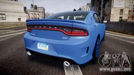 Dodge Charger SRT 2015 Hellcat para GTA 4 Vista posterior izquierda
