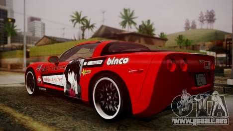 Chevrolet Corvette Z51 Another Itasha para GTA San Andreas left