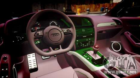 Audi S4 Avant Unmarked Police [ELS] para GTA 4 vista interior