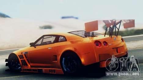 Nissan GT-R (R35) GT3 2012 PJ5 para GTA San Andreas left