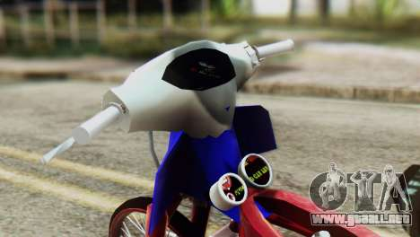 Dream 110 cc of Thailand para GTA San Andreas vista posterior izquierda
