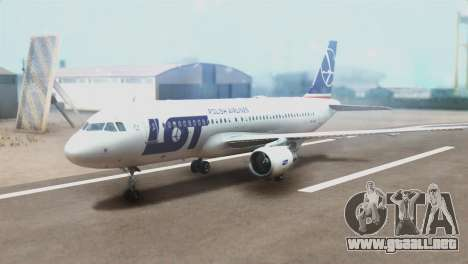 LOT Polish Airlines Airbus A320-200 (New Livery) para GTA San Andreas