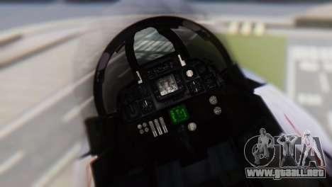 Grumman F-14A Tomcat para GTA San Andreas vista hacia atrás
