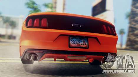 Ford Mustang GT 2015 Stock Tunable v1.0 para vista lateral GTA San Andreas