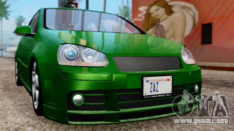Volkswagen Golf Mk5 GTi Tunable PJ para vista lateral GTA San Andreas