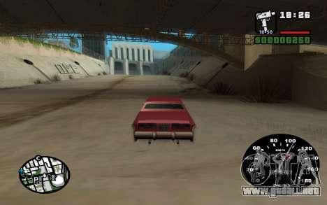 Velocímetro de VAZ 2105 para GTA San Andreas segunda pantalla