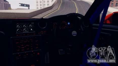 Nissan GT-R R35 LW para GTA San Andreas vista hacia atrás