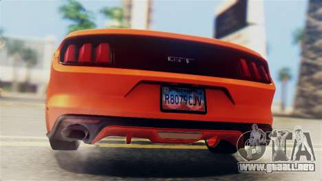 Ford Mustang GT 2015 Stock Tunable v1.0 para la vista superior GTA San Andreas
