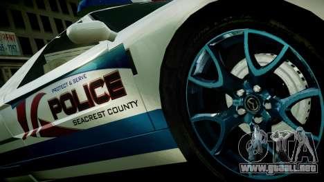 Bullet Police Car para GTA 4 Vista posterior izquierda