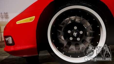 Chevrolet Corvette Z51 Another Itasha para GTA San Andreas vista posterior izquierda