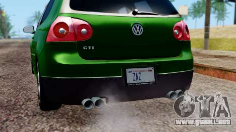 Volkswagen Golf Mk5 GTi Tunable PJ para GTA San Andreas interior