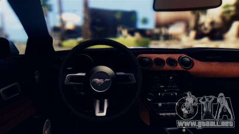 Ford Mustang GT 2015 Stock Tunable v1.0 para visión interna GTA San Andreas