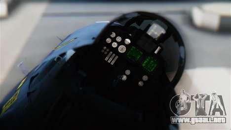 F-14J Super Tomcat JASDF para GTA San Andreas vista hacia atrás