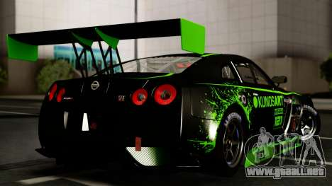 Nissan GT-R (R35) GT3 2012 PJ4 para visión interna GTA San Andreas
