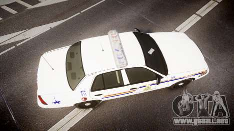 Ford Crown Victoria RCMP Campbellton [ELS] para GTA 4 visión correcta