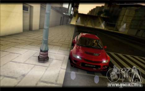 Mitsubishi Lancer Evolution IX Street Edition para GTA San Andreas left