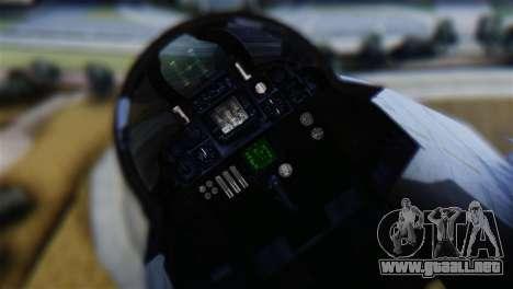 F-14A Tomcat VF-111 Sundowners Low Visibility para GTA San Andreas vista hacia atrás