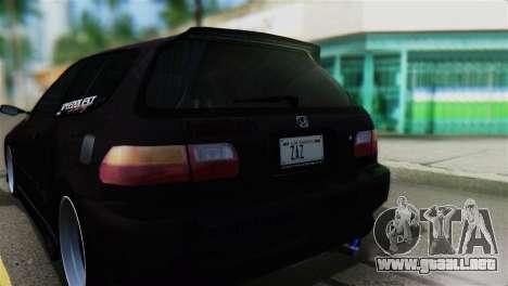 Honda Civic EG6 Kotomi Clannad Itasha para GTA San Andreas vista hacia atrás